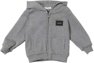 Dolce & Gabbana Logo Tag Cotton Sweatshirt Hoodie