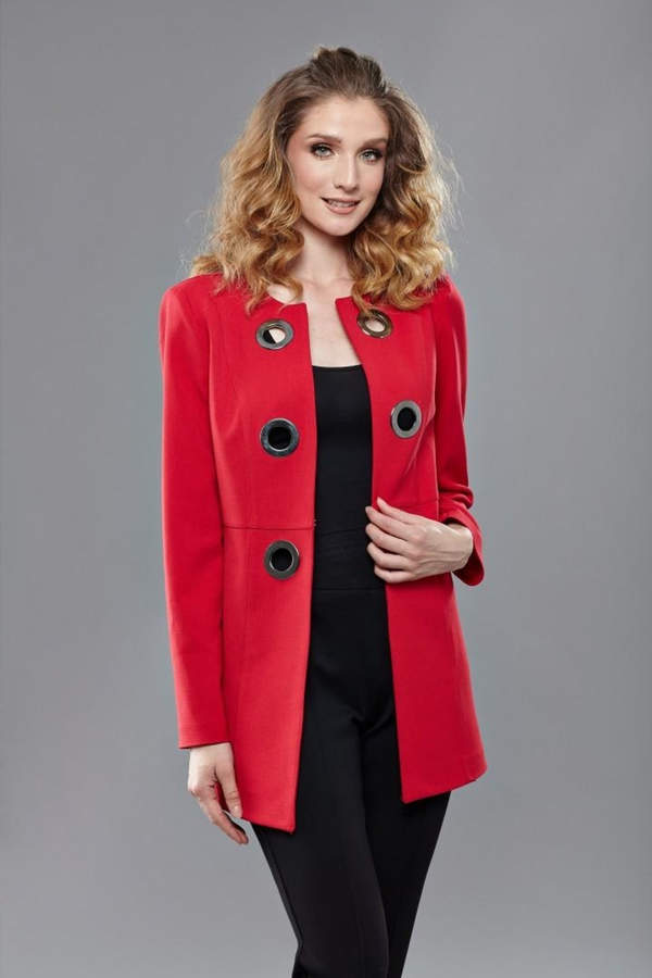 INSIGHT NYC Red Grommet Jacket