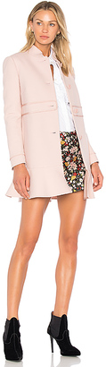 Red Valentino Peplum Coat in Pink $875 thestylecure.com