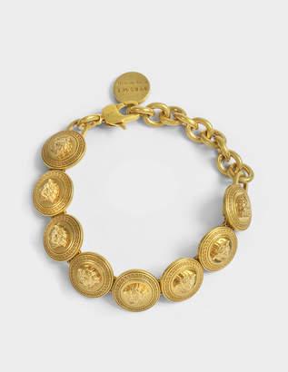 Versace Logo Bracelet in Gold Metal