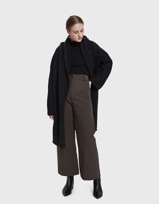 LAUREN MANOOGIAN Capote Coat in Black Melange