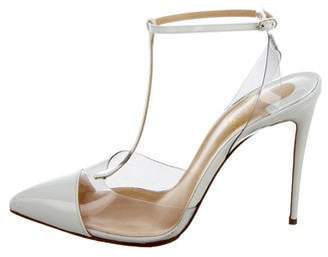 Christian Louboutin Pointed-Toe T-Strap Pumps