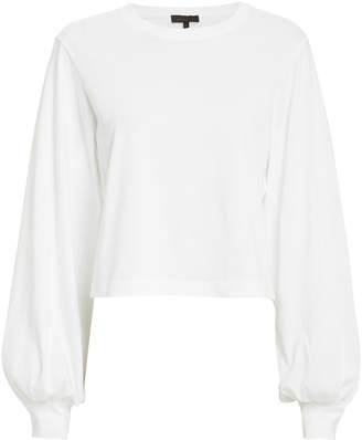 The Range Stark Cropped Jersey Pull-Over