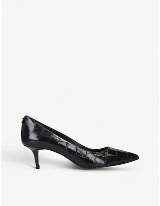 MICHAEL Michael Kors Flex kitten croc-effect leather pumps
