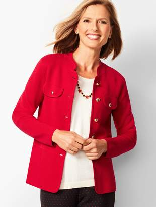 Talbots Stand Collar Sweater Jacket