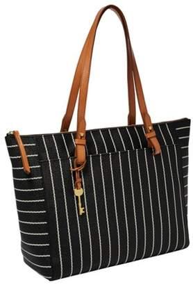 Fossil Rachel Tote With Zipper Handbags Black/White