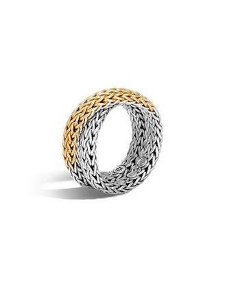 John Hardy 18K & Sterling Silver Crossover Chain Ring, Size 6
