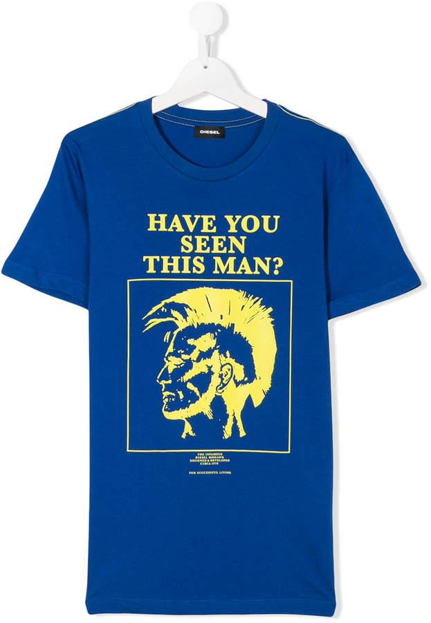 T-Shirt mit Punk-Print