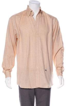 Etro Check Pattern Button-Up Shirt