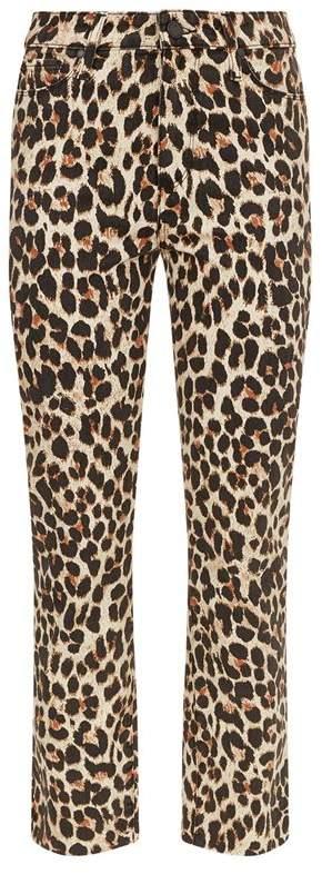 Denim Hoxton Leopard Print Jeans