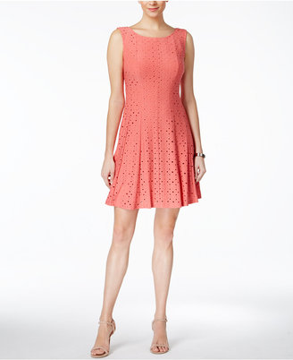 Connected Eyelet Fit & Flare Dress $79 thestylecure.com