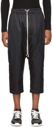Rick Owens Black Nylon Drawstring Trousers