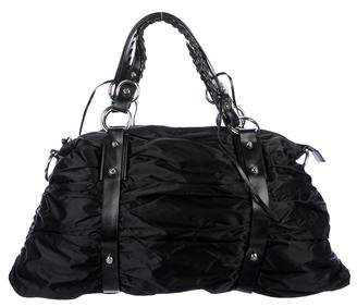 Francesco Biasia Pleated Nylon Tote