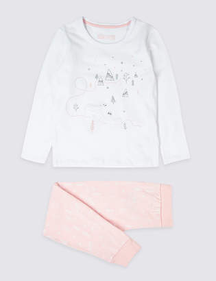 Marks and Spencer Cotton Pyjamas with Stretch (18 Months - 7 Years)