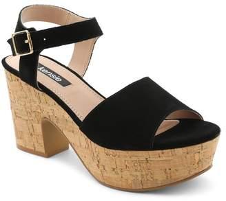 Kensie Cathryn Block Cork Heel Sandal