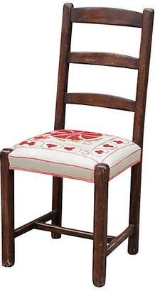 One Kings Lane Vintage Suzani Ladderback Chair - de-cor