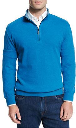 Peter Millar Melange Fleece Quarter-Zip Sweater $145 thestylecure.com
