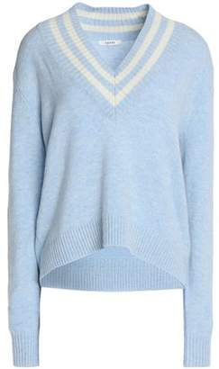 Ganni Intarsia Merino Wool-Blend Sweater