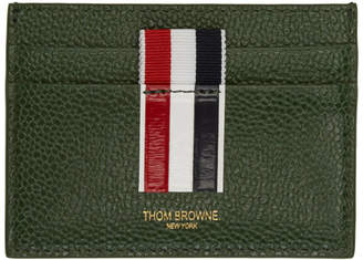 Thom Browne Green Stripe Double Sided Card Holder