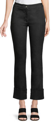 Piazza Sempione Mid-Rise Straight-Leg Cropped Jeans w/ Cuffs
