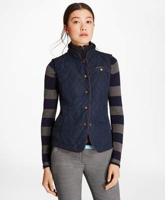 Brooks Brothers Water-Repellent Diamond-Quilted Vest