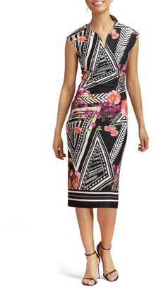 Women's Eci Print Scuba Midi Dress $88 thestylecure.com