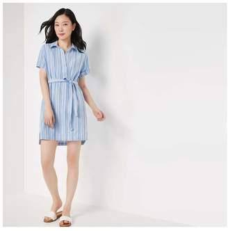 Joe Fresh Women's Shirt Dress, Dusty Blue (Size S)