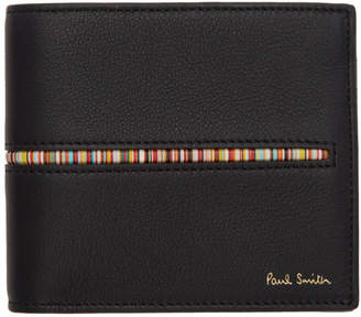 Paul Smith Black Multistripe Insert Wallet