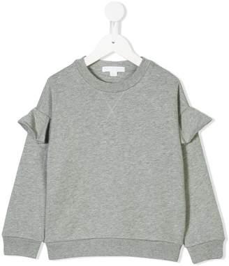Burberry ruffled detail sweatshirt