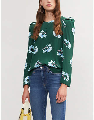 Maje Lukoise floral-printed woven blouse