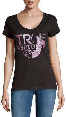True Religion Women's Short-Sleeve Cotton Top