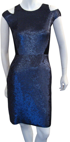 Proenza Schouler Sequin Cut-out Dress In Midnight