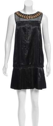 Tibi Embellished Shift Dress