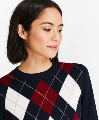 Brooks Brothers Merino Wool Argyle Sweater