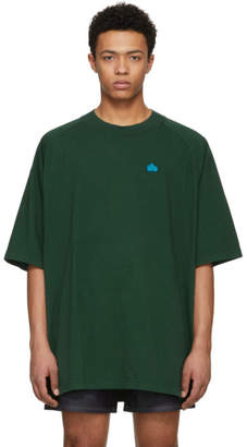 Acne Studios Bla Konst Green Basset Badge T-Shirt