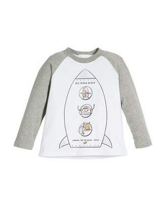 Burberry Rocket Graphic Baseball Tee, Size 4-10