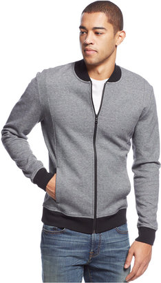 Alfani Slim Pique Bomber Track Jacket, Only at Macy's $69.50 thestylecure.com