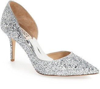 Badgley Mischka Collection 'Daisy' Embellished Pointy Toe Pump