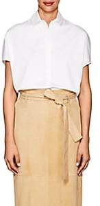 The Row Women's Loha Cotton Poplin Crop Top - White