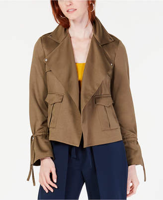 Bar III Cinched-Sleeve Utility Jacket
