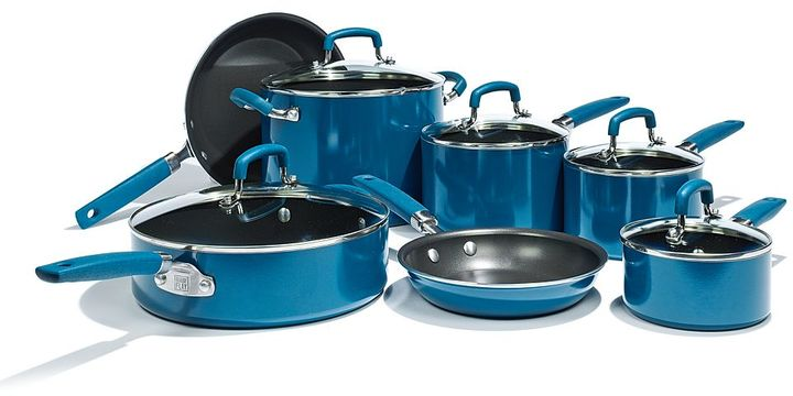 Bobby flay ™ 12-pc. nonstick aluminum cookware set