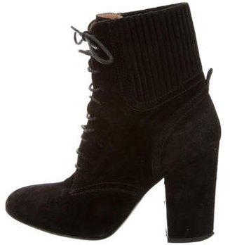 Laurence Dacade Suede Lace-Up Ankle Boots $175 thestylecure.com