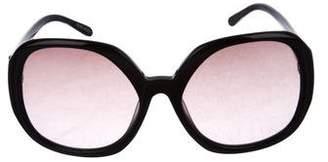 Missoni Logo Oversize Round Gradient Sunglasses