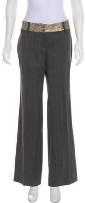 Dolce & Gabbana Virgin Wool Mid-Rise Wide-Leg Pants