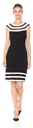 Adrianna Papell Women's Matte Jersey Colorblock Sheath