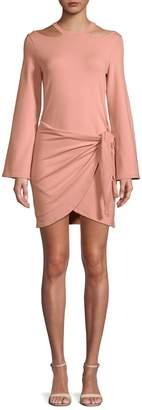 Junie Long-Sleeve Self-Tie Dress