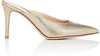 Gianvito Rossi Women's Metallic Twill Mules - Gold