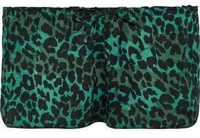 Love Stories Audrey Leopard-Print Sateen Pajama Shorts
