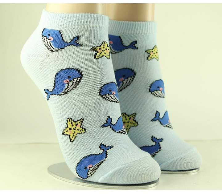 Whale & Starfish Ankle Socks