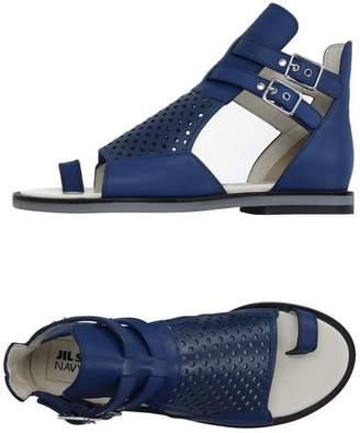 Jil Sander Navy Toe post sandal